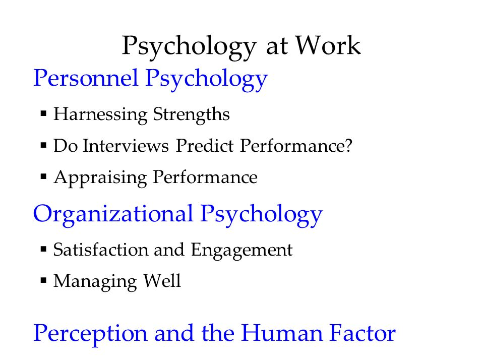 Psychology at Work Personnel Psychology  Harnessing Strengths  Do Interviews Predict Performance.