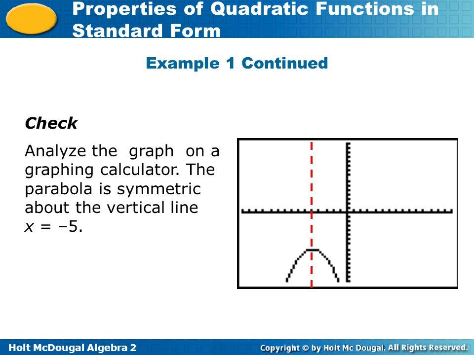 Quadratic Functions In Standard Form Calculator Ordek