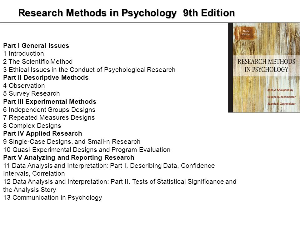 five types of psychological research Qualitative psychological research is where the research findings are not arrived at by statistical or other there are three main types of psychological research.