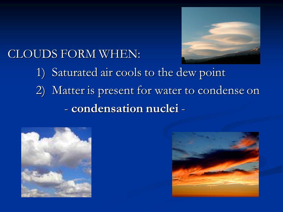 MOISTURE, CLOUDS & PRECIPITATION Chapter 18 * REMINDER - water ...