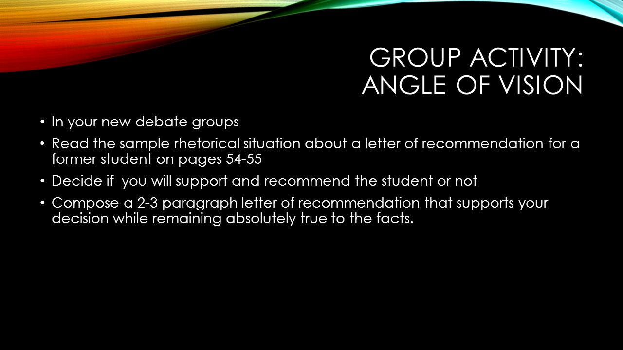 today s goals continue planning for the class debate examine the 8 group