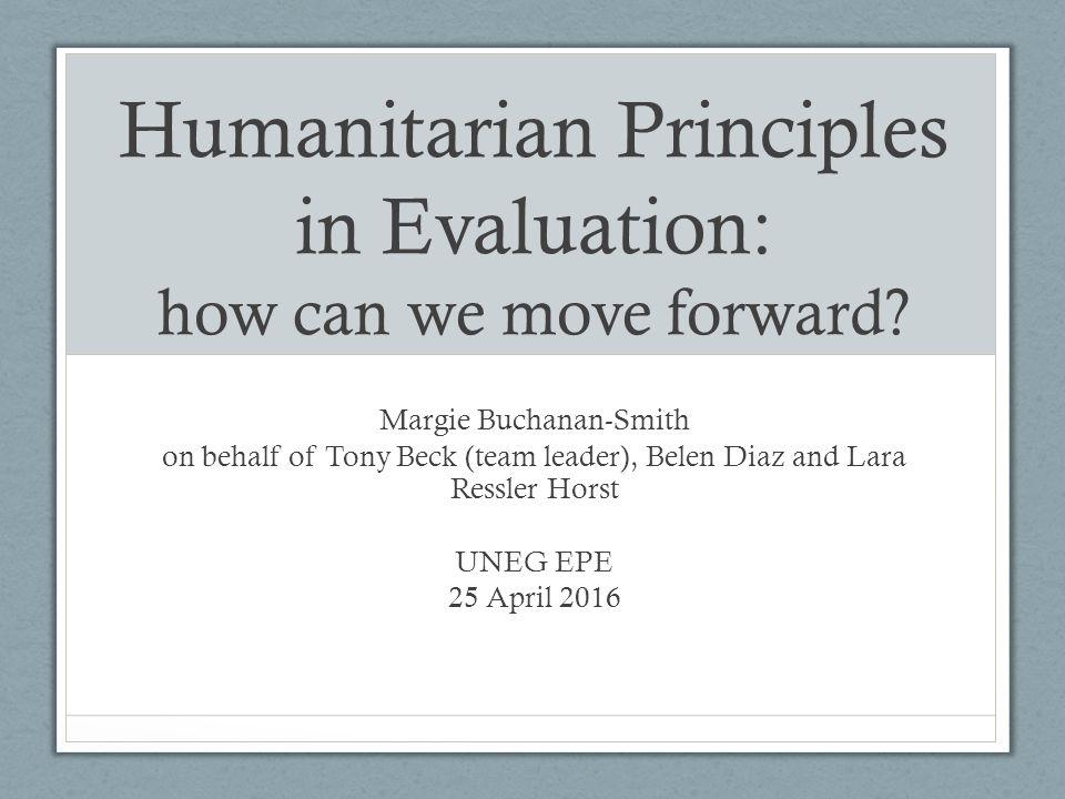 humanitarian principles challenges