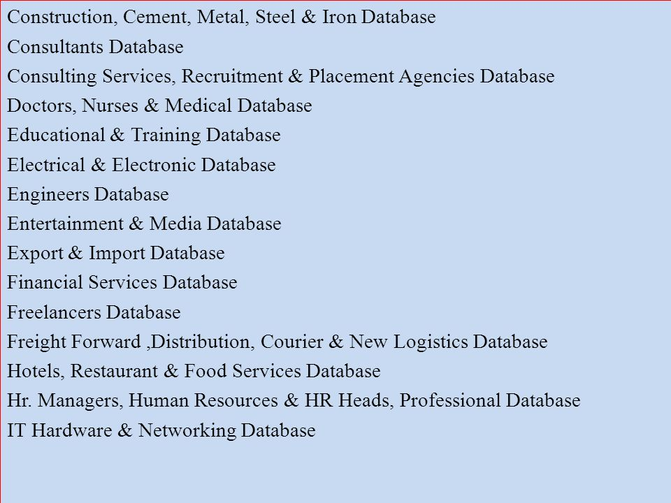 construction cement metal steel iron database consultants database consulting services recruitment. Resume Example. Resume CV Cover Letter