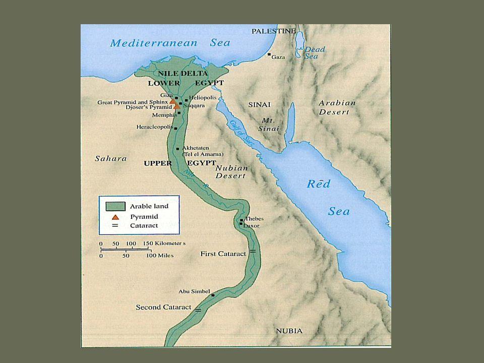 The Kingdom of the Nile Egypt like Mesopotamia was a river