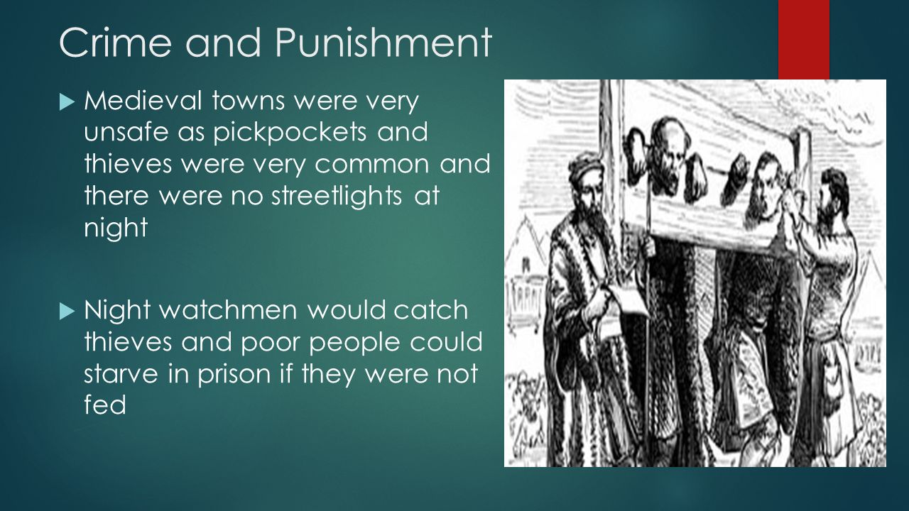 medieval crime and punishment During the middle ages rendering them completely immobile the period of time was determined by the crime, with some infractions, like blasphemy.