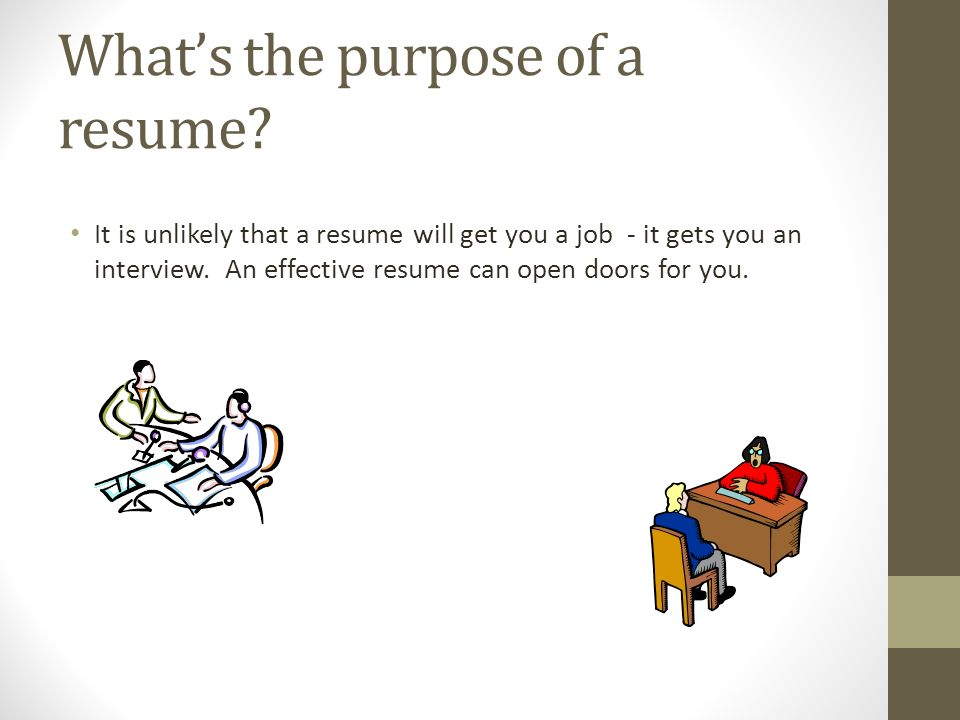 Whatu0027s The Purpose Of A Resume.