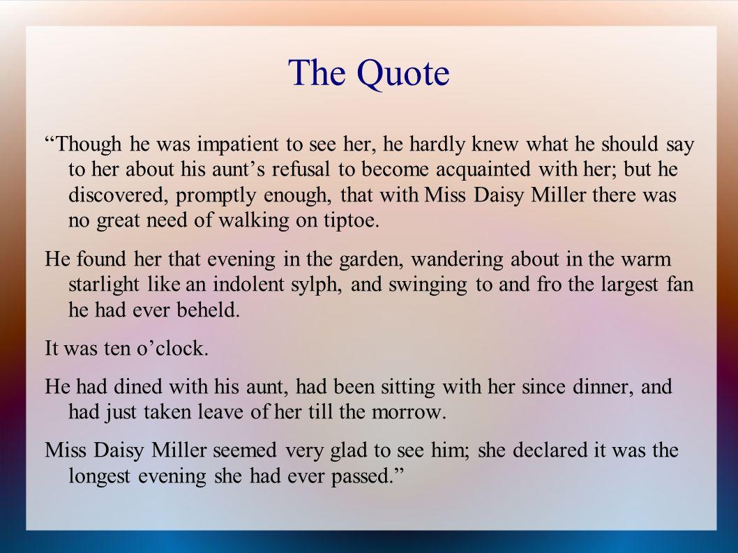 daisy miller critical essay
