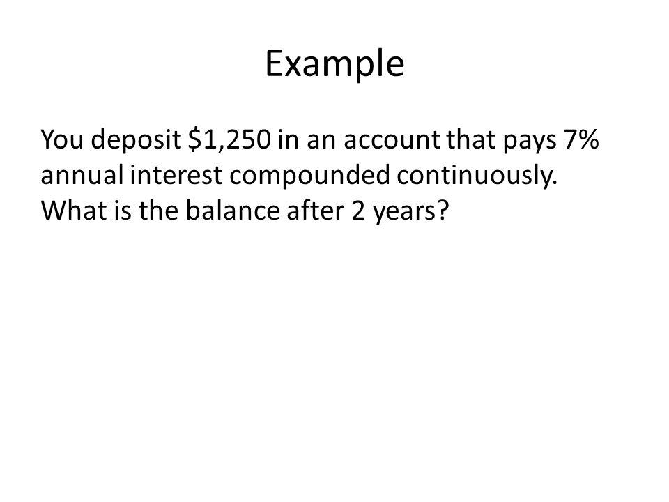 Continuous compound interest worksheet pdf