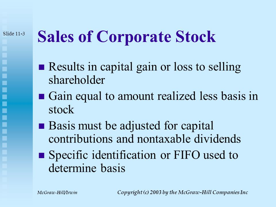 McGraw-Hill/Irwin Copyright (c) 2003 by the McGraw-Hill Companies Inc Valuing Equity Interests Dependent upon fair market value of business Noncontrolling interests may result in a minority discount Controlling interests can lead to a control premium Slide 11-2