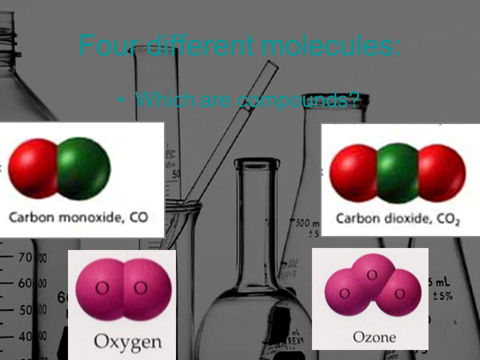 Four different molecules: Which are compounds