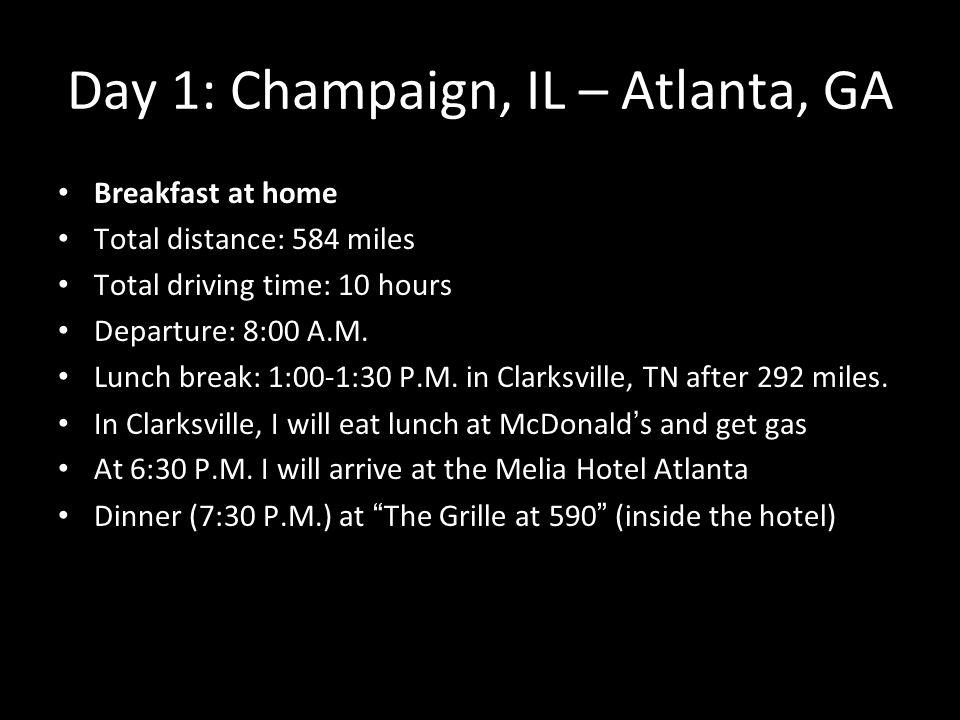 Itinerary I Am Making A Trip Of Days To Miami Florida This - Distance to atlanta georgia