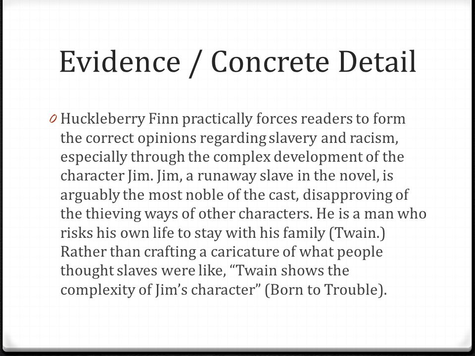 "realism in huckleberry finn essay example A guide to writing the literary analysis essay  example: ""to be  the adventures of huckleberry finn."