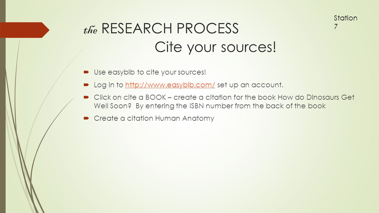The Research Process Cite Your Sources ς� Use Easybib To Cite Your Sources