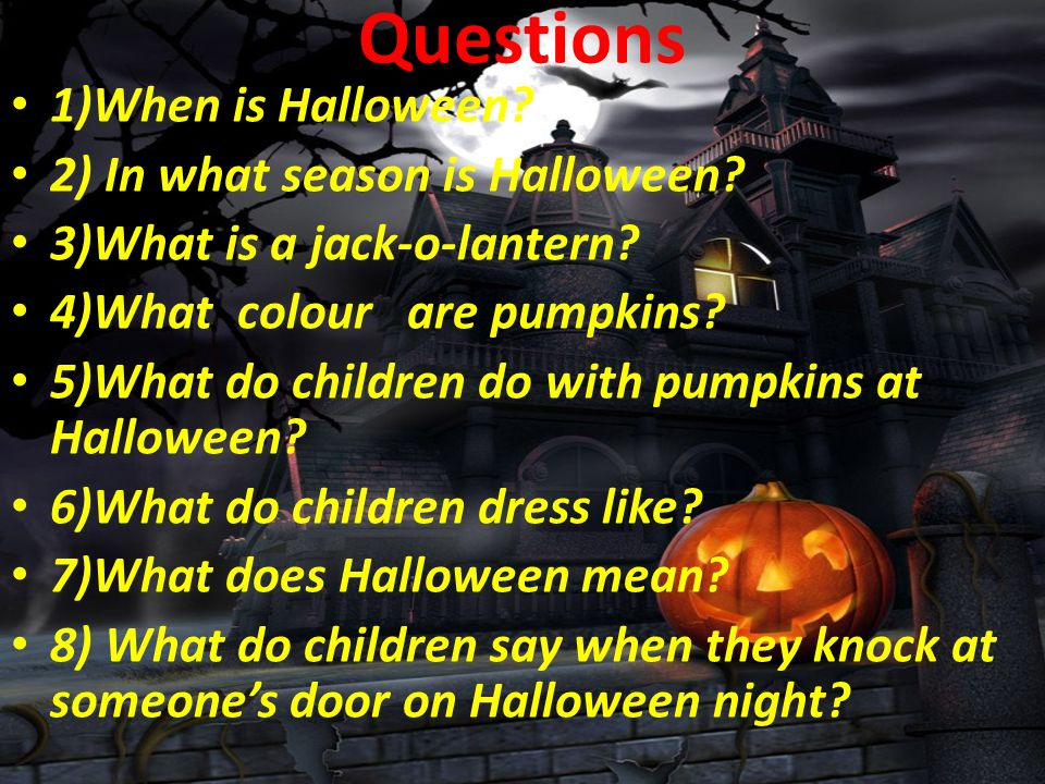 Welcome to our open lesson. Halloween is an annual holiday ...