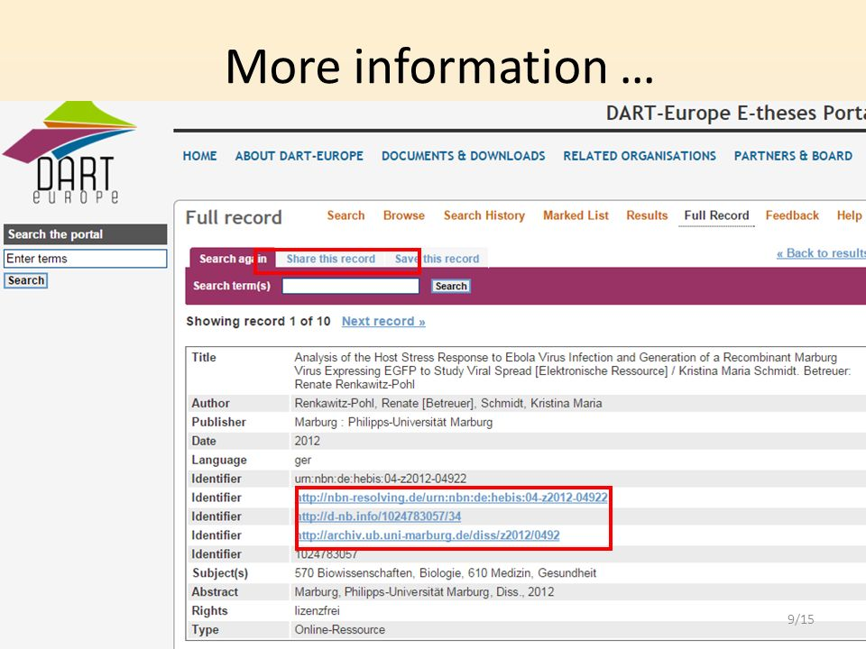 dart europe e theses portal european portal for the discovery of  9 more information 9 15