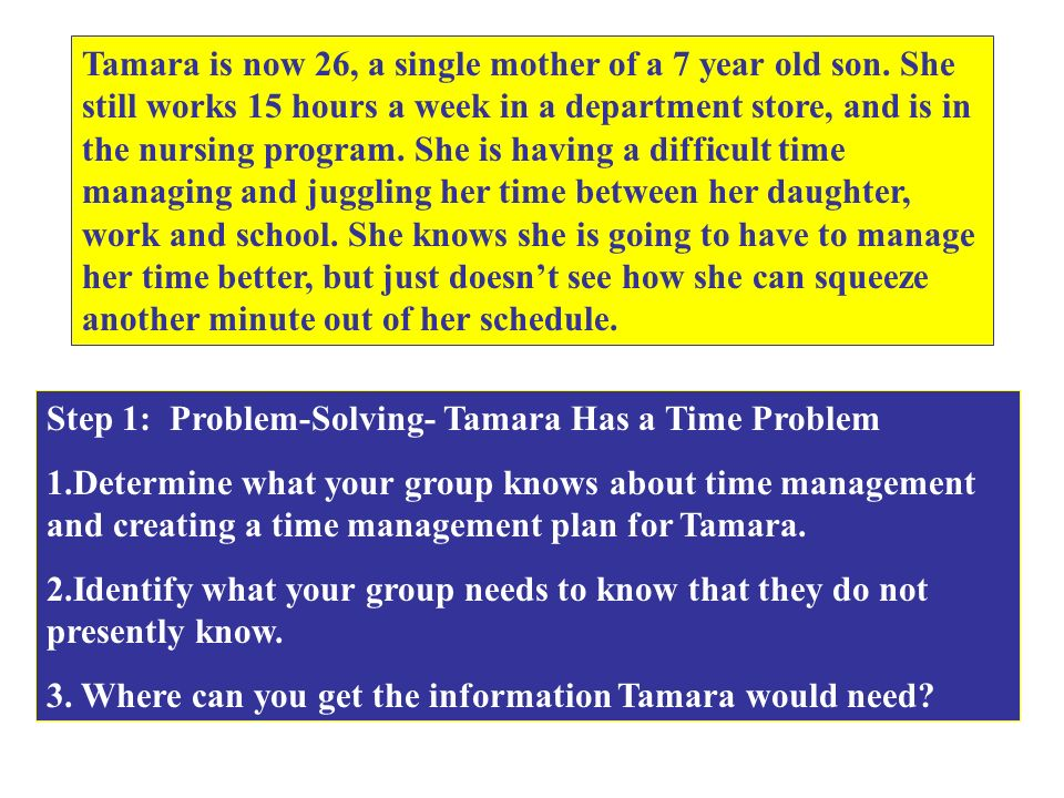 Tamara is now 26, a single mother of a 7 year old son.