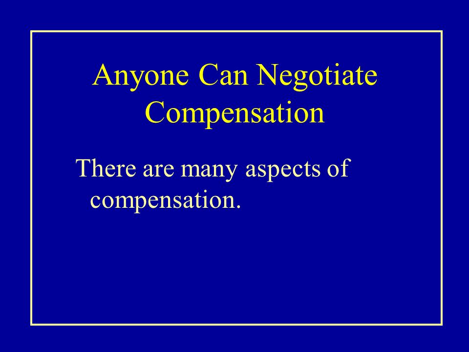 name your price compensation negotiation at Name your price: compensation negotiation at whole health management (a) mba student monroe davies is asked by a potential employer to determine his own.