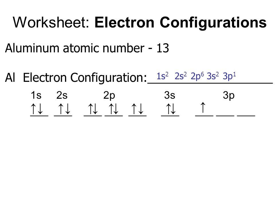 Electron Configurations Worksheet Practice Worksheets | idk ...