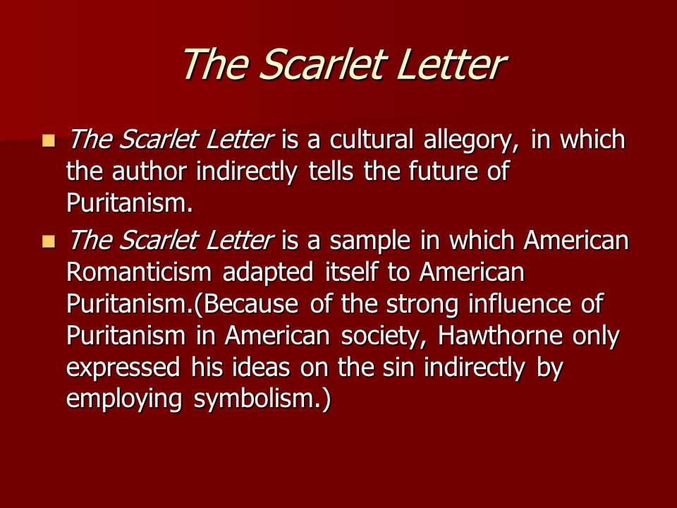 an analysis of discrimination in society in the scarlet letter by nathaniel hawthorne