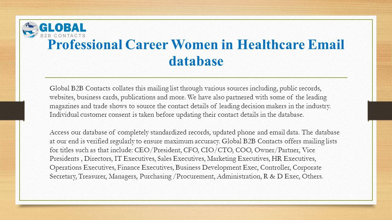 Professional Career Women in Healthcare. Professional Career Women ...