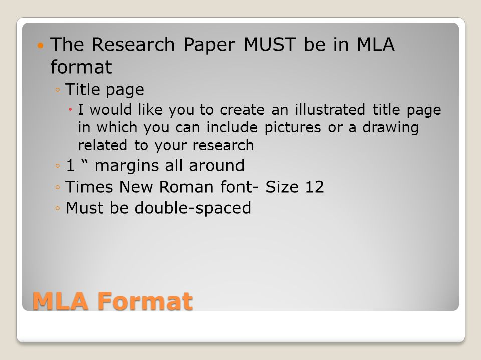 mla format cover page