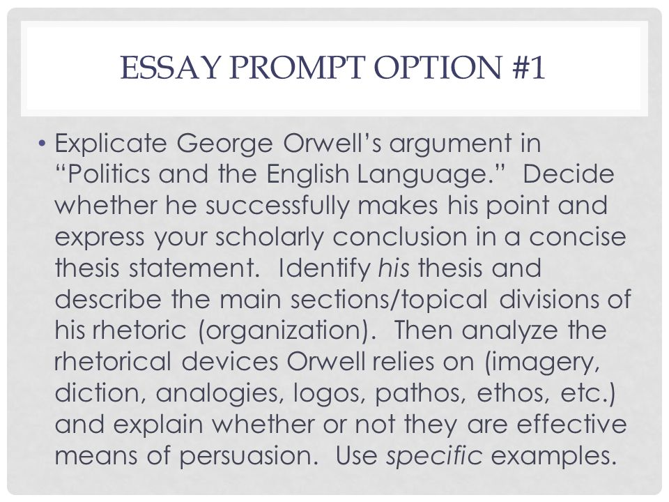 Politics And The English Language Essay Last Class Day Engl Agenda