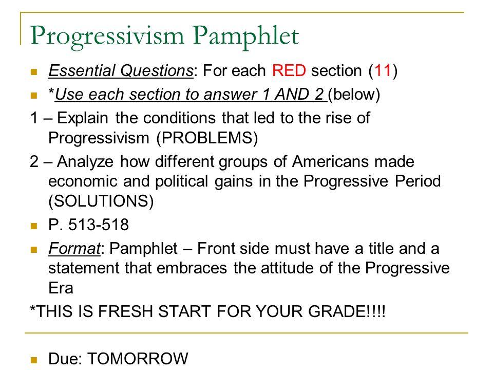 2 Progressivism ...