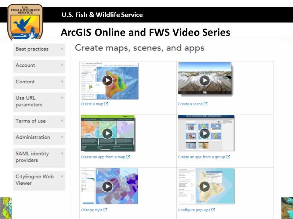 33 U S Fish Wildlife Service 33 Arcgis Online And Fws Video Series