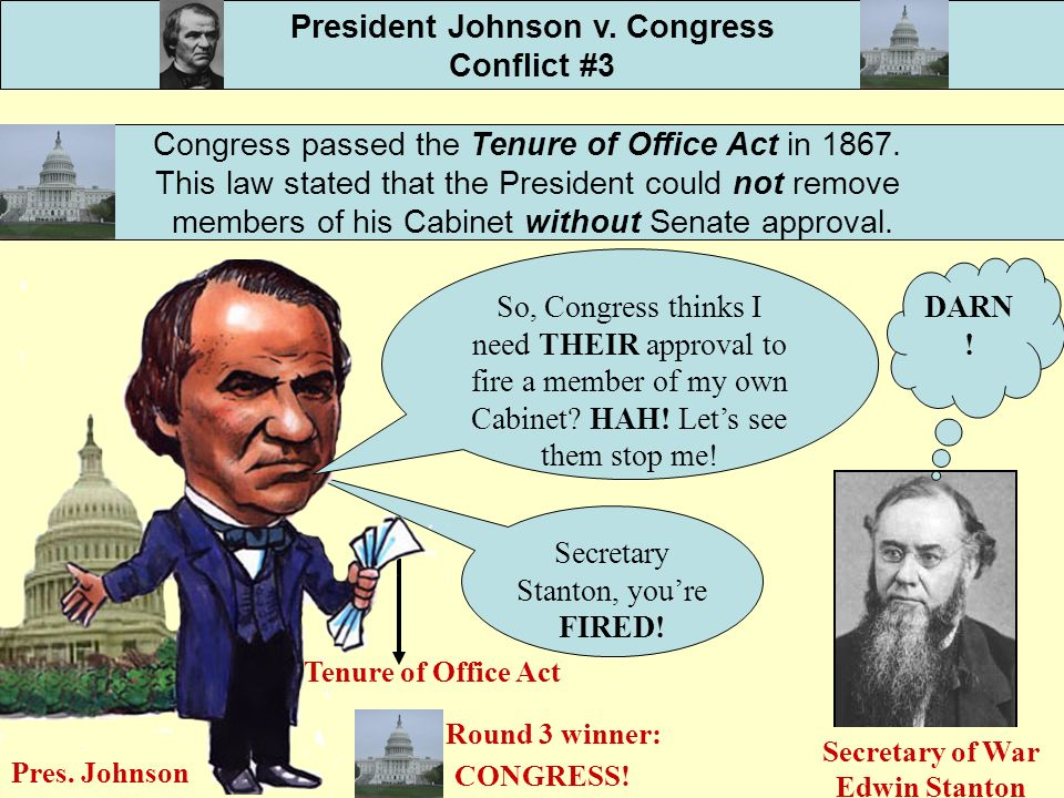 the conflicting views between the president and congress The struggle between presidential and congressional powers the center of congress and president relations in the when this began to conflict with.