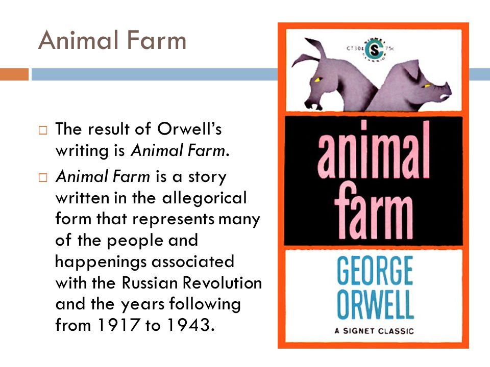 an analysis of animal farm by Everything you ever wanted to know about snowball (a pig) in animal farm, written by masters of this stuff just for you.