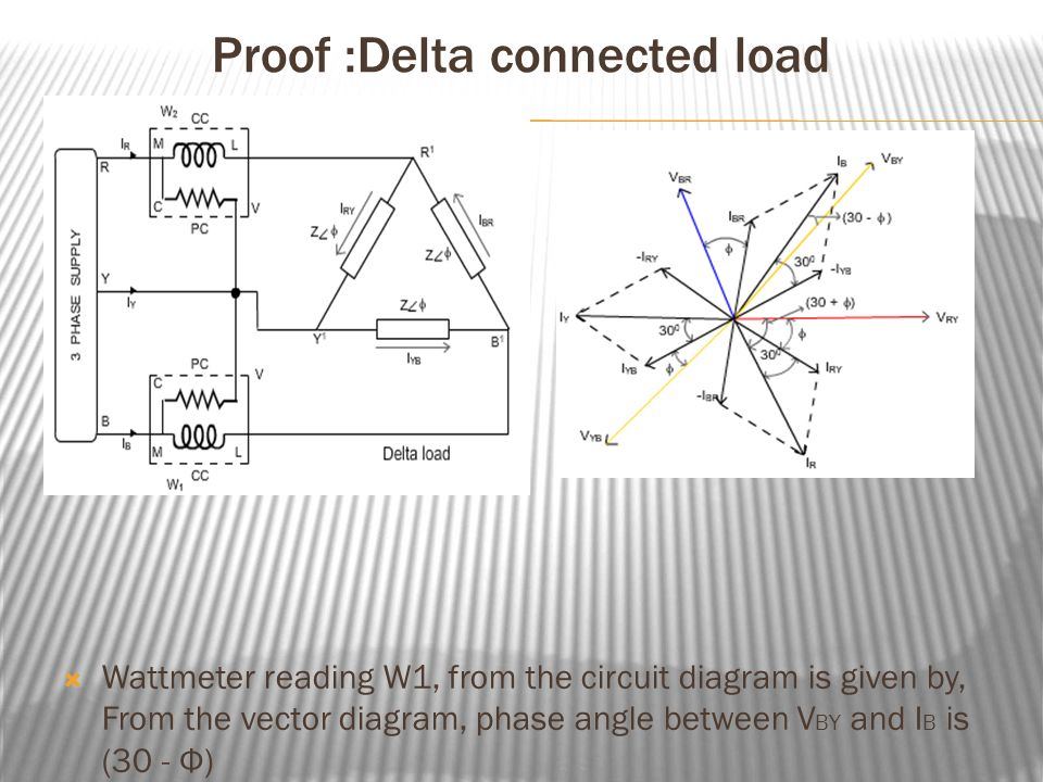 Sarvajanik of college of engineering technology subject proof delta connected load wattmeter reading w1 from the circuit diagram is given ccuart Gallery