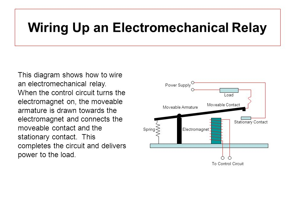 Electromechanical relays mechatronics ece 5320 assignment 1 paul 9 wiring cheapraybanclubmaster Image collections