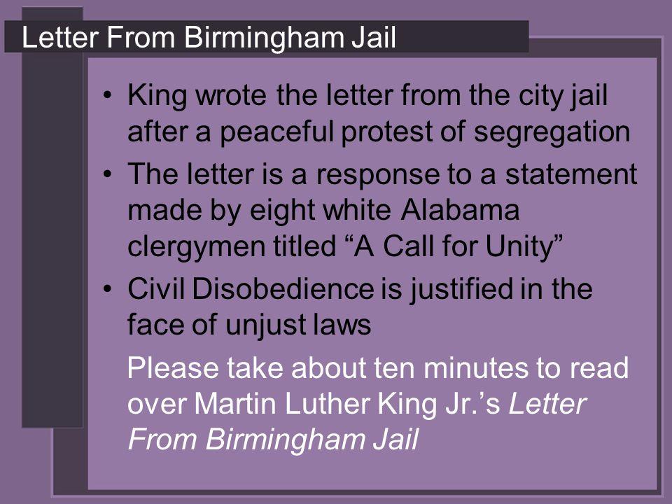 letter birmingham jail response letter birmingham jail mar