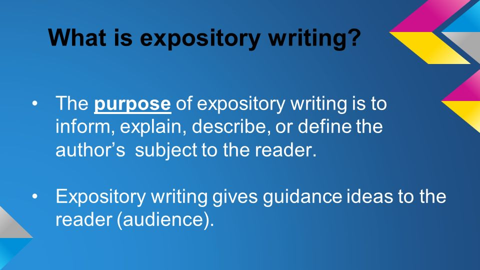the purpose of an expository essay is to
