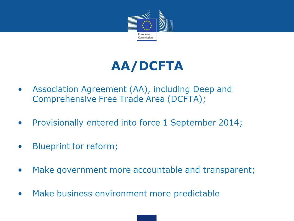 Eu markets dcfta new trade opportunities vasile plamadeala eu agreement aa including deep and comprehensive free trade area dcfta provisionally entered into force 1 september 2014 blueprint for reform malvernweather Image collections