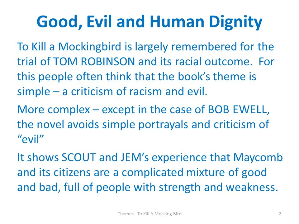 good vs. evil to kill a mockingbird essay