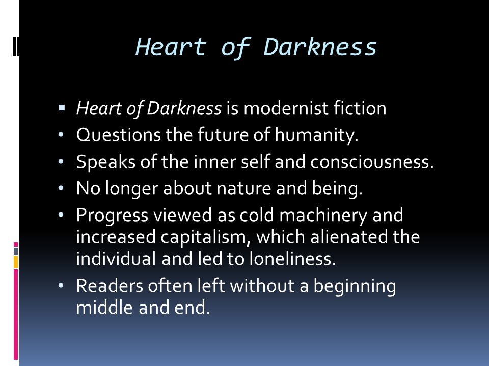Another Heart of Darkness Question?