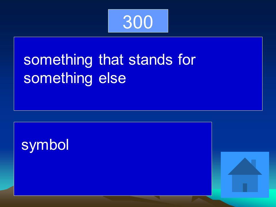 300 something that stands for something else symbol