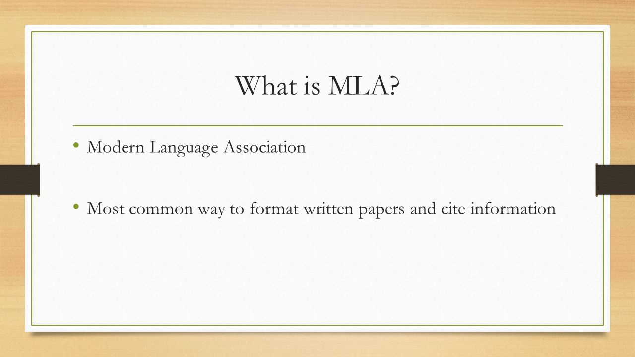 mla format for sources