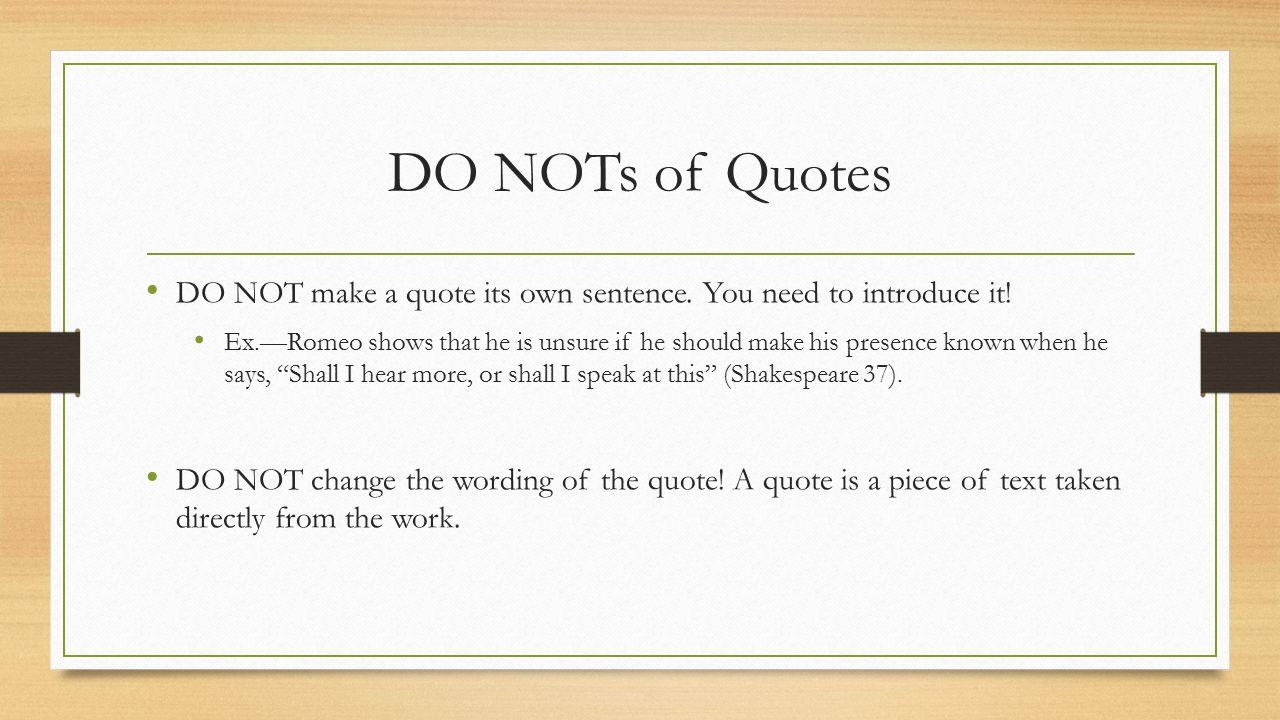 book report quote citation