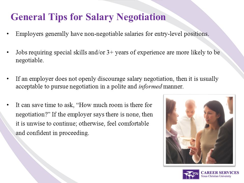 Amazing General Tips For Salary Negotiation Employers Generally Have Non Negotiable  Salaries For Entry Level