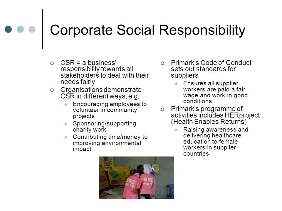 corporate social responsibility primark Primark is a subsidiary company of the abf (associated british foods) group beyond corporate social responsibility - assignment example on in assignment sample.