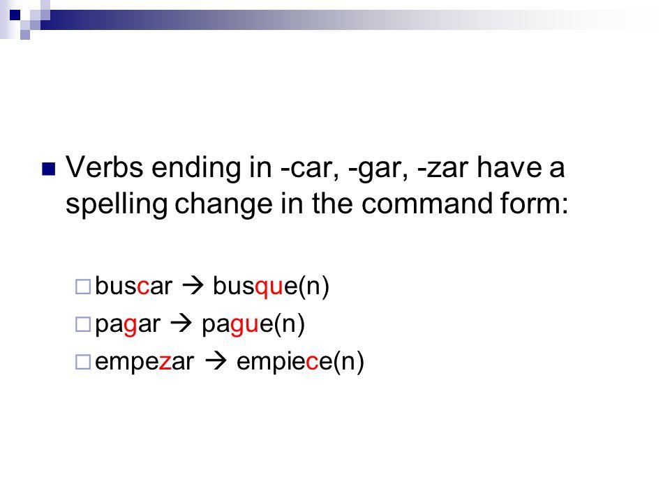 Usted/Ustedes Commands; (MANDATOS/IMPERATIVO) Unidad 5 Lección ppt ...
