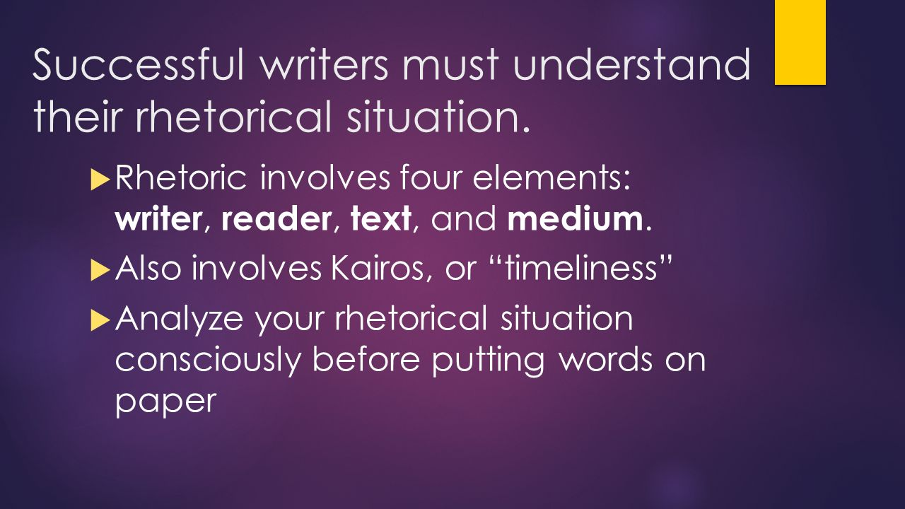 rhetoric lesson writing tip of the day active vs passive successful writers must understand their rhetorical situation