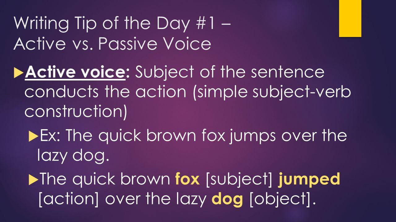 writing passive voice