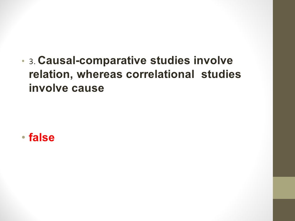 causal comparative study