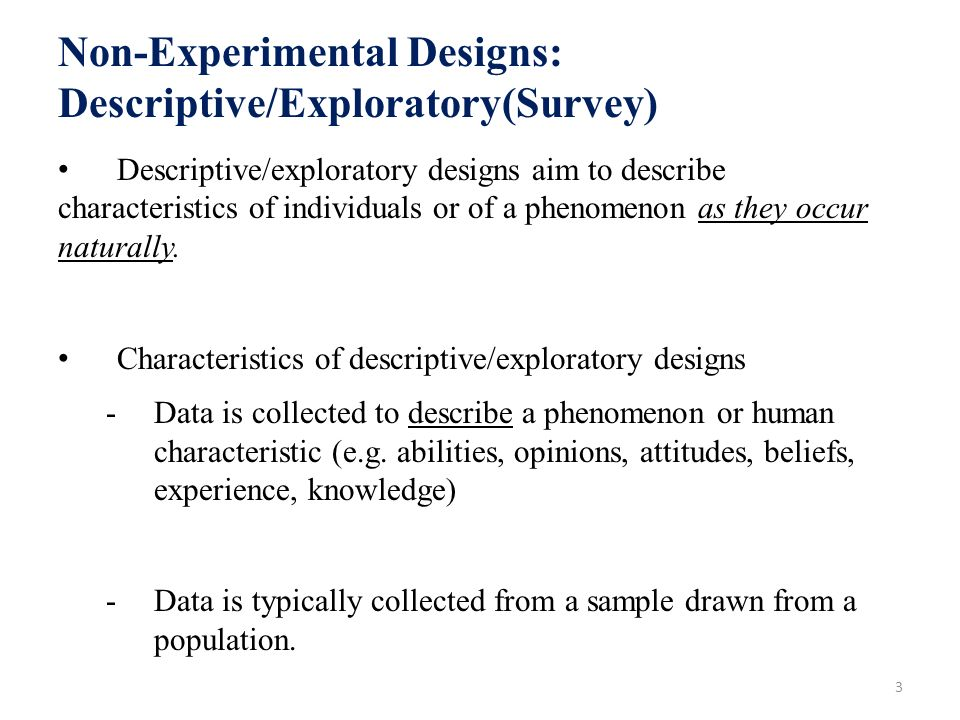 characteristics of exploratory research design Research design a plan for research a research design characteristics of an exploratory research.