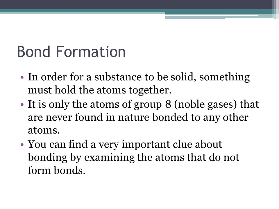 Chemical Bonding. Properties of Ionic and Molecular Compounds The ...