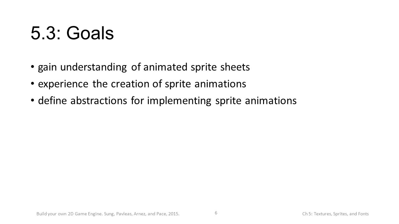 Ch 5: Textures, Sprites, And Fontsbuild Your Own 2d Game Engine