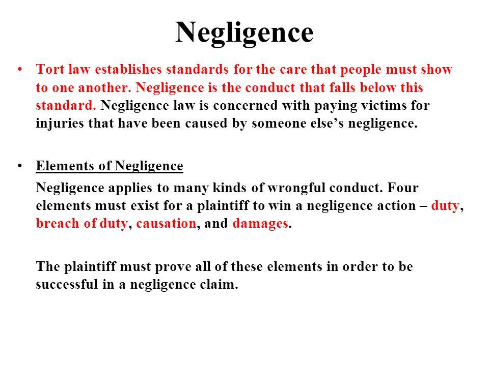 Negligence Tort